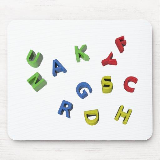 Alphabet Letters Mouse Pad