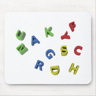 Alphabet Letters Mousepad