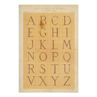 Alphabet (Letters) Poster