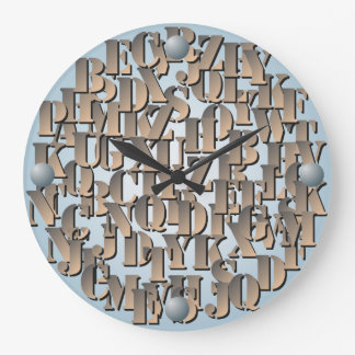 Alphabet letters Wall Clock