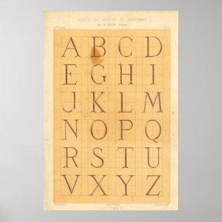 Alphabet (Lettres) Affiches