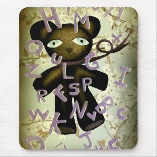 alphabet lomography sad teddy bear Mousepad