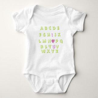 Alphabet love baby bodysuit