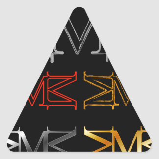 Alphabet M Triangle Sticker