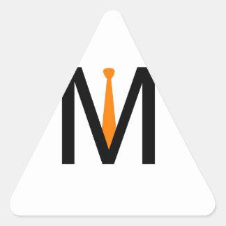 Alphabet M with a tie Triangle Sticker