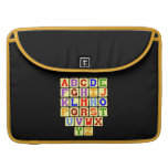 Alphabet MacBook Pro Sleeves