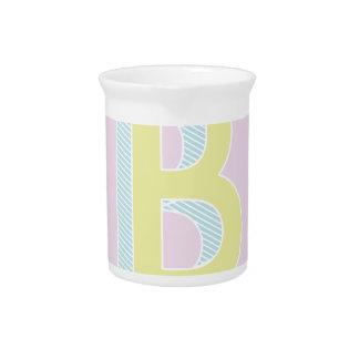 Alphabet Mauve B Drink Pitcher