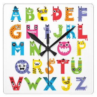 Alphabet Monsters clock