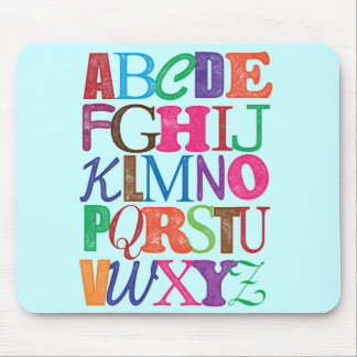Alphabet Mousepad
