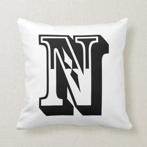 Throw Pillows With Letters On Them : Alphabet