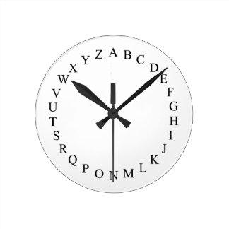 Alphabet - novelty clock