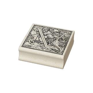 Alphabet of Death Letter V Rubber Stamp