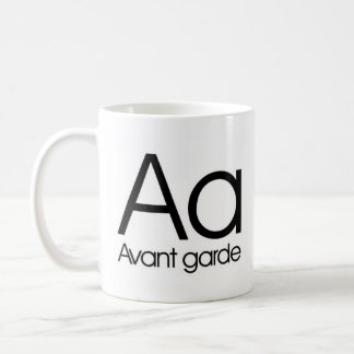 Alphabet Of Typography Mug - Avant Garde