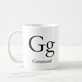 Alphabet Of Typography Mug - Garamond