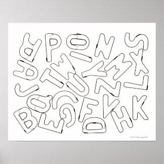 Alphabet outline poster