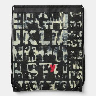 Alphabet Painting by Norman Wyatt Drawstring Bag