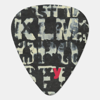 Alphabet Painting by Norman Wyatt Guitar Pick