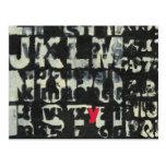 Alphabet Painting by Norman Wyatt Postcard