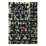 Alphabet Painting by Norman Wyatt Poster