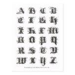 Alphabet Päris 1843 Post Card