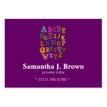 Alphabet Patches Business Card