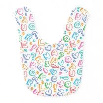 alphabet pattern bib