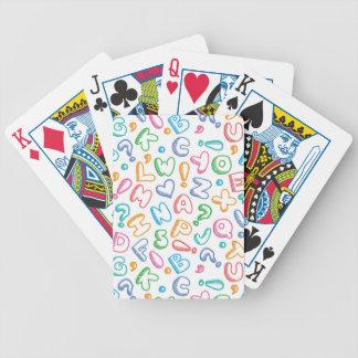 alphabet pattern deck of cards