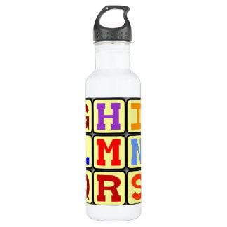 Alphabet 24oz Water Bottle