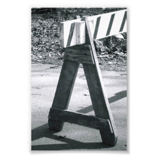 Alphabet Photo Letter A2 Black and White 4x6