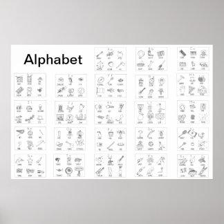 Alphabet Picture Poster