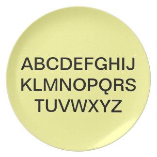 Alphabet Plate