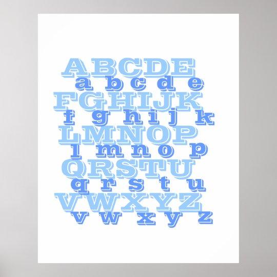 "Alphabet Poster 35"" x 43"""