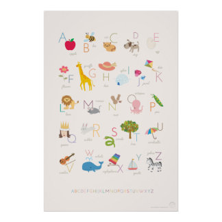 Browse our Collection of Alphabet Posters and personalize by color, design, or style.
