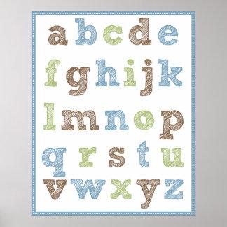 Alphabet Poster for Boy's Nursery