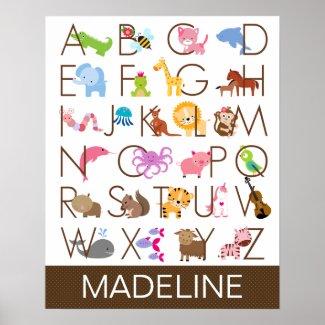 Alphabet Poster for Girl