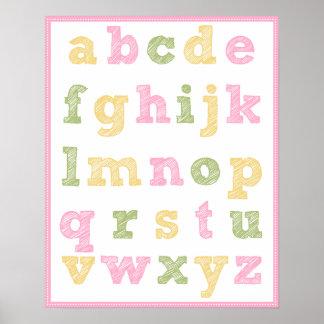 Alphabet Poster for Girl's Nursery