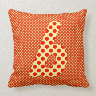 Alphabet Set, Character B in Shades of Red, Beige Pillows