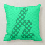 Alphabet Set, Character H in Shades of Greed Throw Pillow (<em>$49.60</em>)