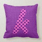 Alphabet Set, Character K Shades of Pink and Blue Throw Pillow (<em>$49.60</em>)