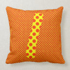 Alphabet Set, Character L in Yellow Brown Shades Pillow (<em>$49.60</em>)