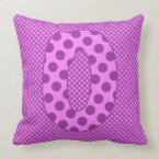 Alphabet Set, Character O in Shades of Purple Pillow (<em>$49.60</em>)