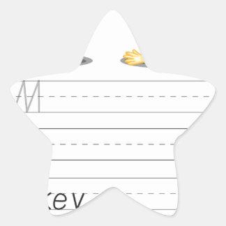 Alphabet sheet sticker