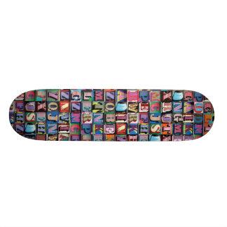 alphabet skate board