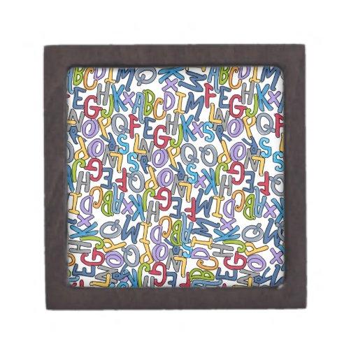 Alphabet Soup Collection by Devora Designs Premium Trinket Box