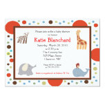 "Alphabet Soup Dots 5x7 Baby Shower Invitation 5"" X 7"" Invitation Card"