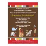 Alphabet Soup Jungle Baby Shower Invite (Brown)