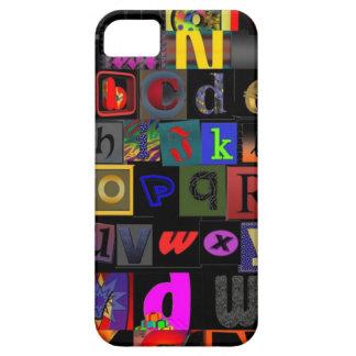 Alphabet Soup, mosaic letters design, fun colourfu iPhone SE/5/5s Case