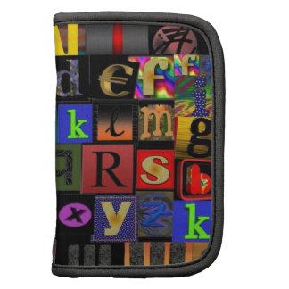 Alphabet Soup, mosaic letters design, fun colourfu Organizers