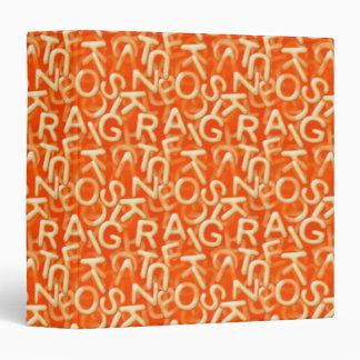 Alphabet Soup Notebook 3 Ring Binder