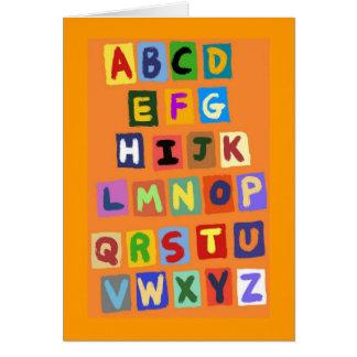 alphabet stationery note card